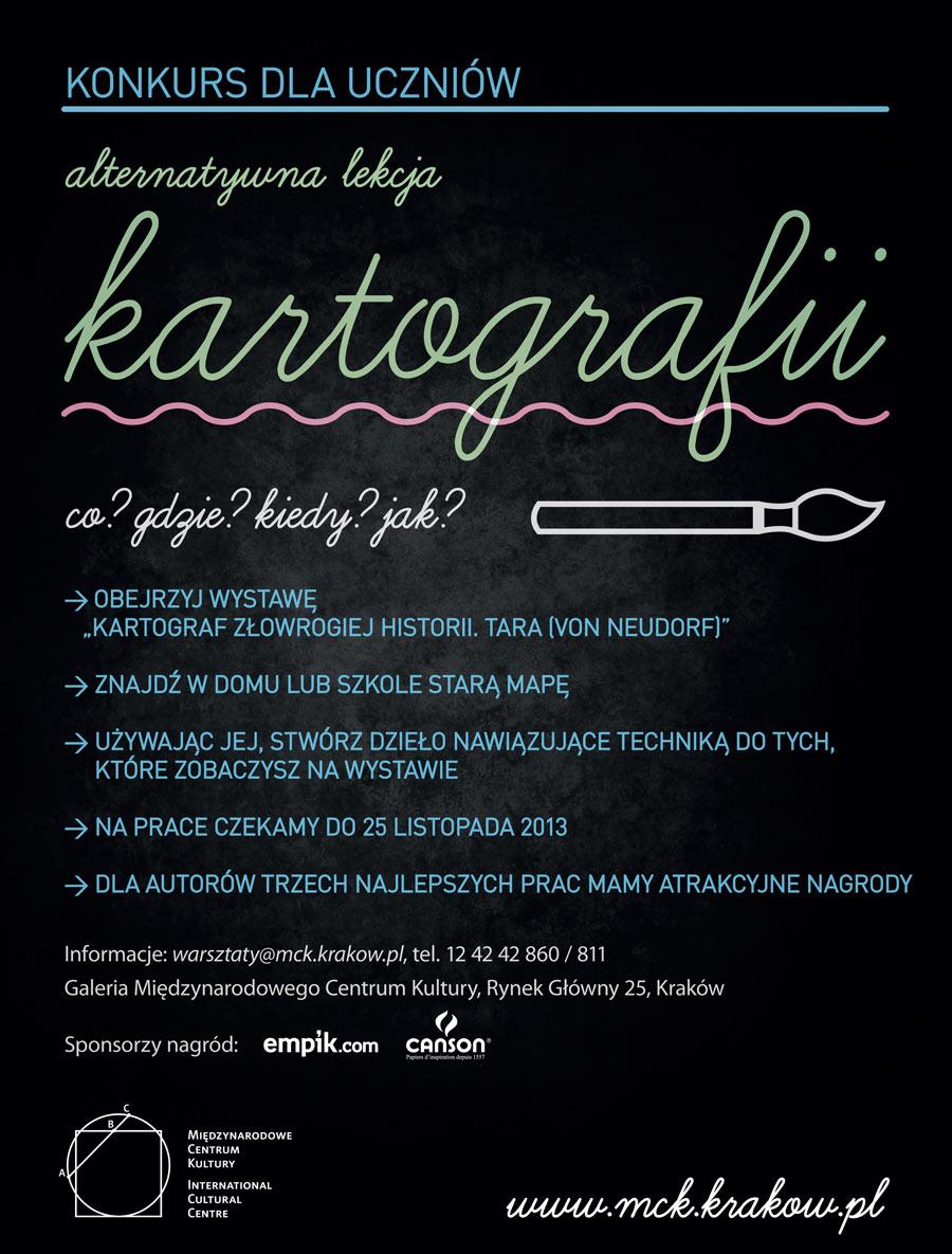 """""""Alternatywna lekcja kartografii"""" Międzynarodowe Centrum Kultury w Krakowie, plakat (źródło: materiały prasowe)"""