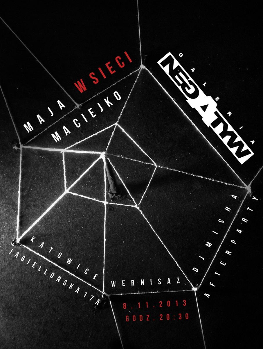 """Maja Maciejko, """"W sieci"""", Galeria Negatyw w Katowicach, plakat wystawy (źródło: materiały prasowe organizatora)"""
