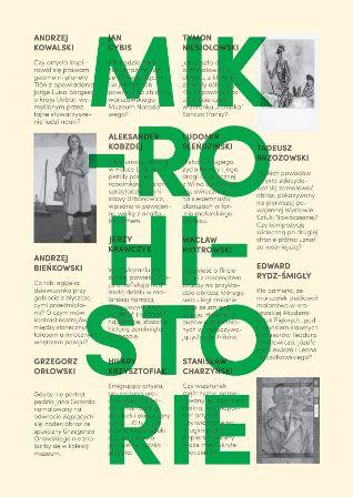 """Wystawa """"Mikrohistorie"""", Muzeum Rzeźby im. Xawerego Dunikowskiego w Królikarni, plakat (źródło: materiały prasowe organizatora)"""