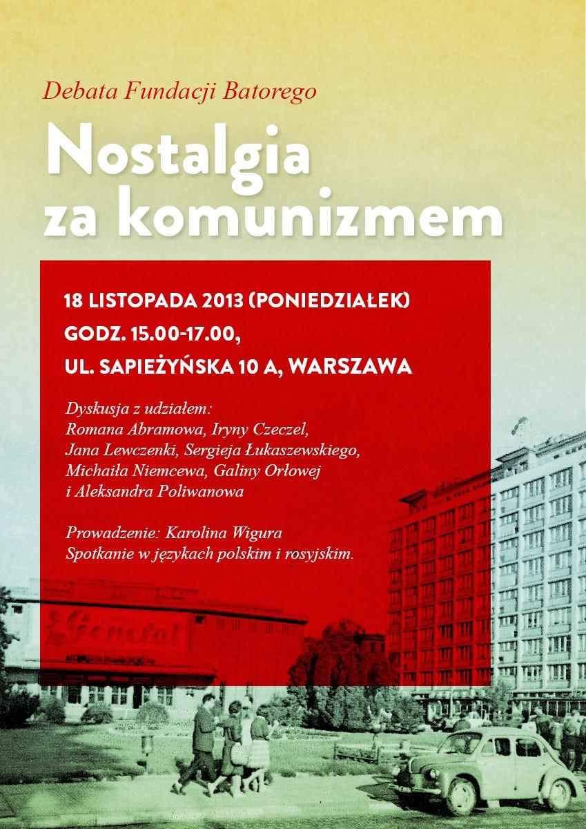 """""""Nostalgia za komunizmem"""" – plakat (źródło: materiały prasowe)"""