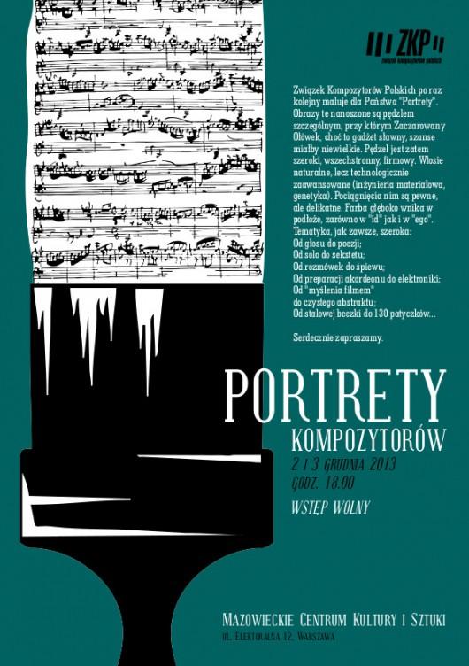 23. Portrety Kompozytorów, Mazowieckie Centrum Kultury i Sztuki w Warszawie, plakat (źródło: materiały prasowe)