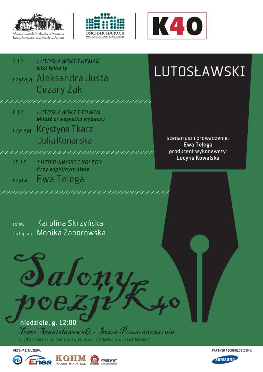 Salony Poezji: Witold Lutosławski – plakat (źródło: materiały prasowe)