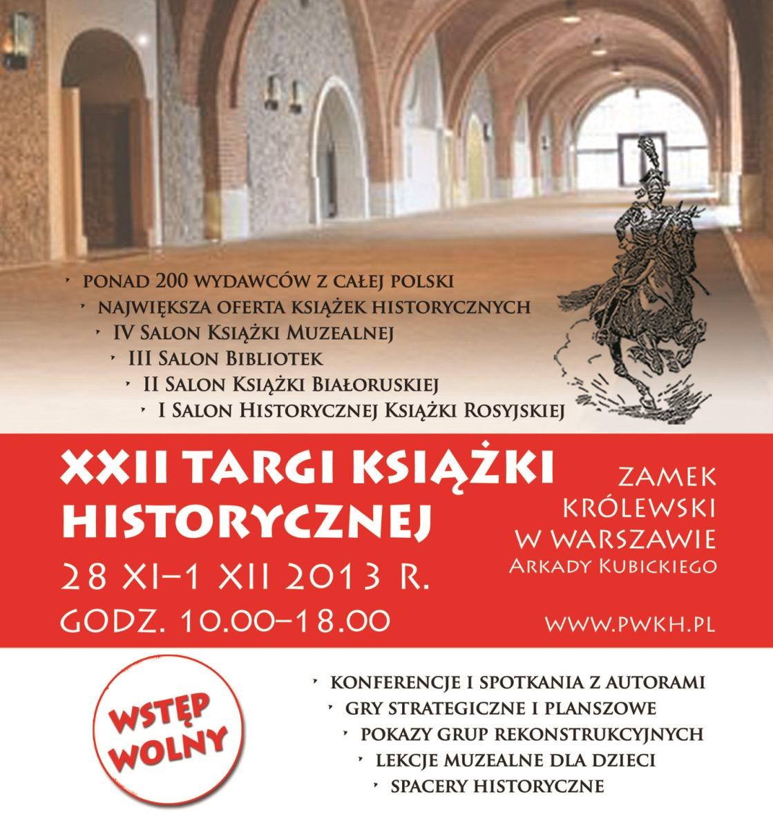Targi Książki Historycznej – plakat (źródło: materiały prasowe)