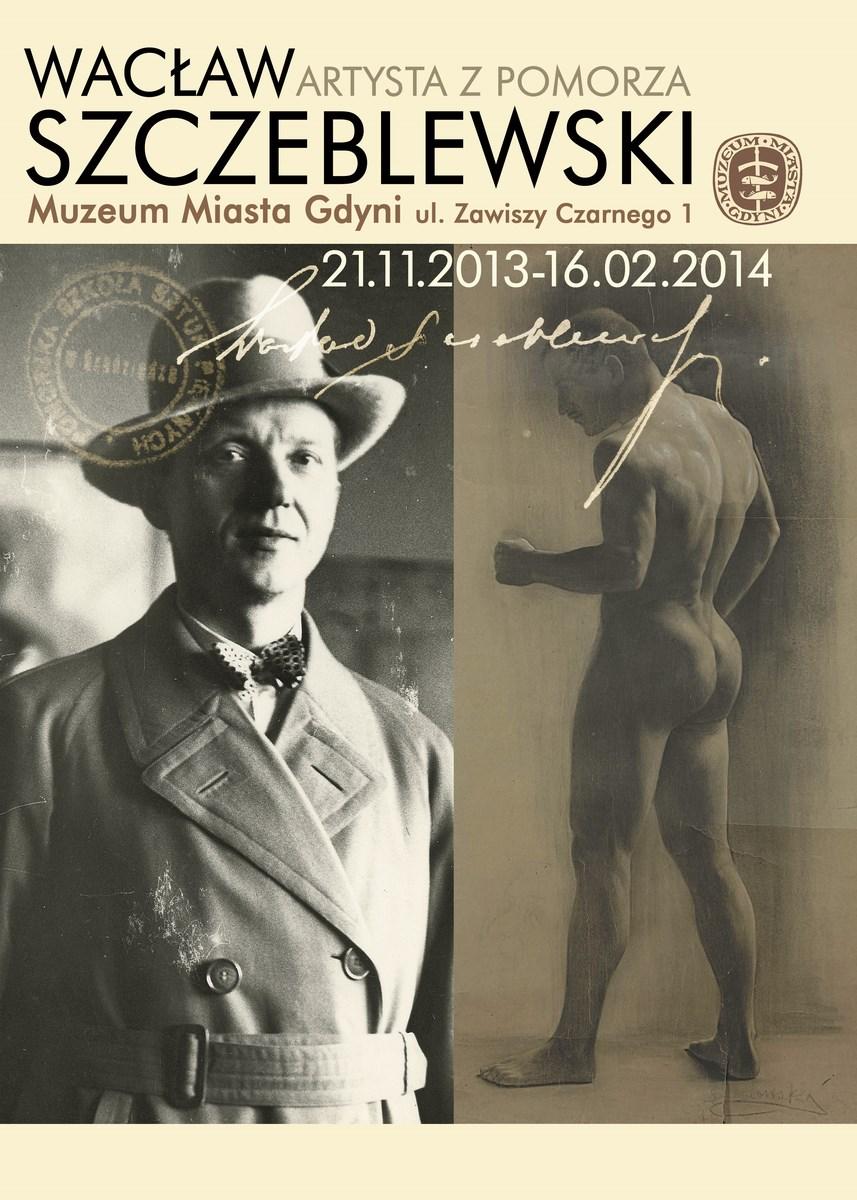 """Wystawa """"Wacław Szczeblewski. Artysta z Pomorza"""", Muzeum Miasta Gdyni, zaproszenie (źródło: materiały prasowe organizatora)t"""