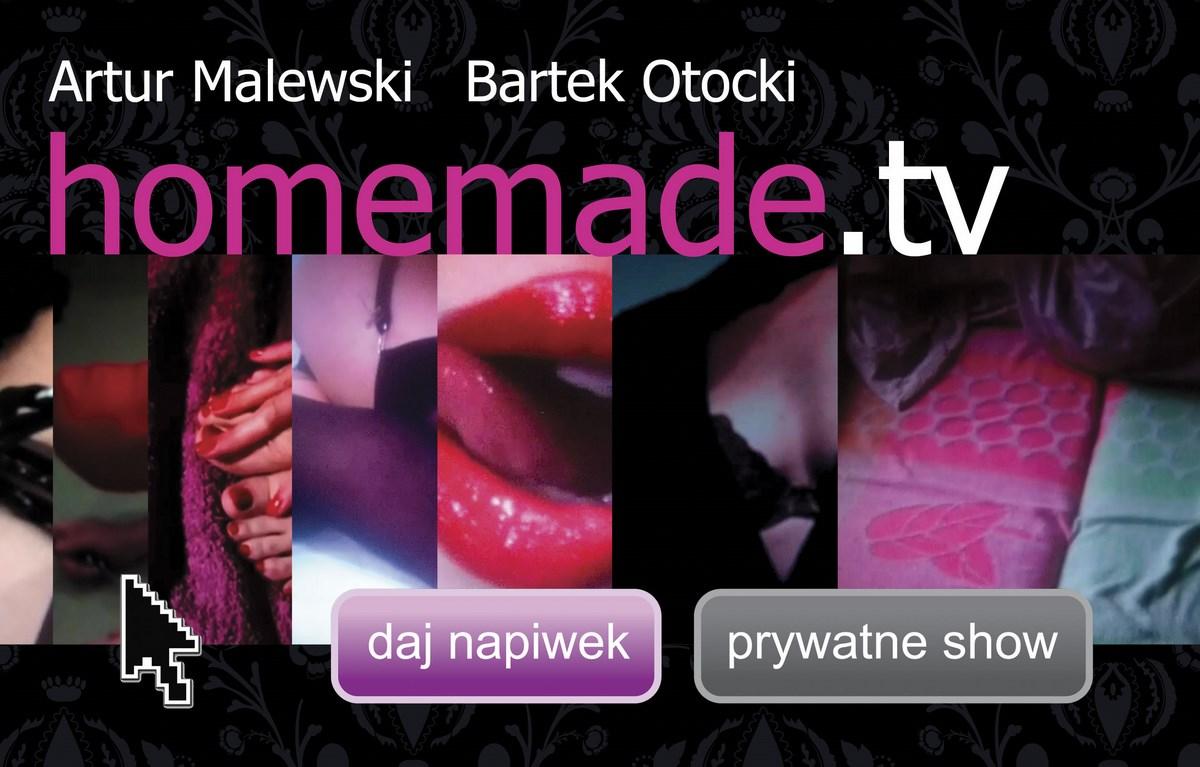 """Artur Malewski i Bartek Otocki, """"homemade.tv"""", plakat wystawy (źródło: materiały prasowe organizatora)"""