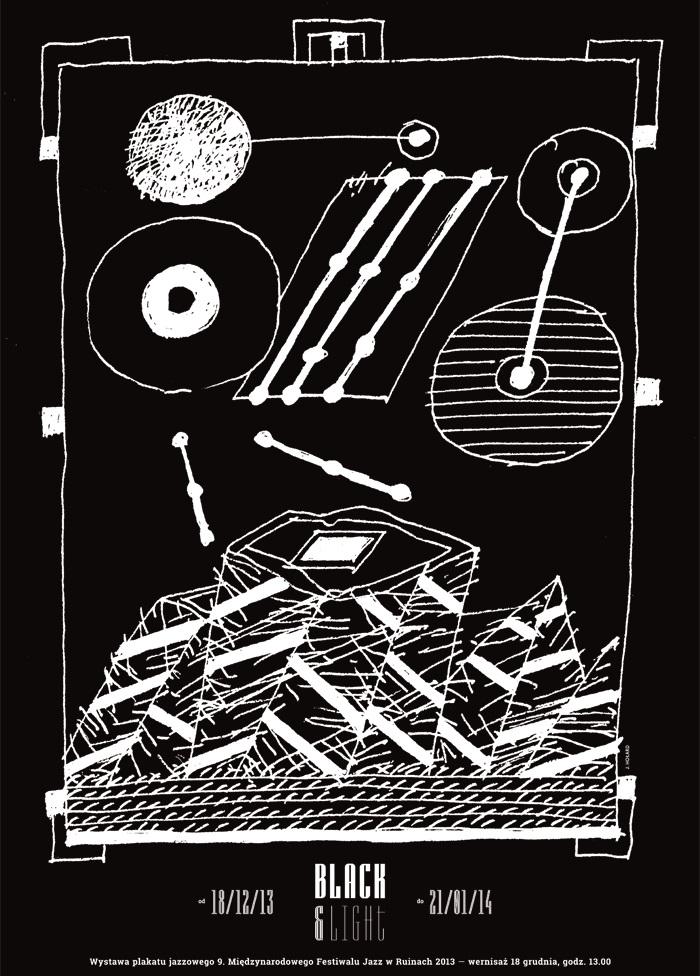 """Wystawa plakatu """"Black & Light"""", Galeria Uniwersytecka w Cieszynie (źródło: materiały prasowe organizatora)"""