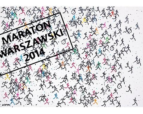 """Bogusław Lustyk, """"Maraton Warszawski 2014"""", Srebrny Medal (źródło: materiały prasowe organizatora)"""