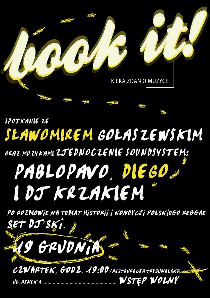 Book it! kilka zdań o muzyce, plakat (źródło: mat. prasowe)