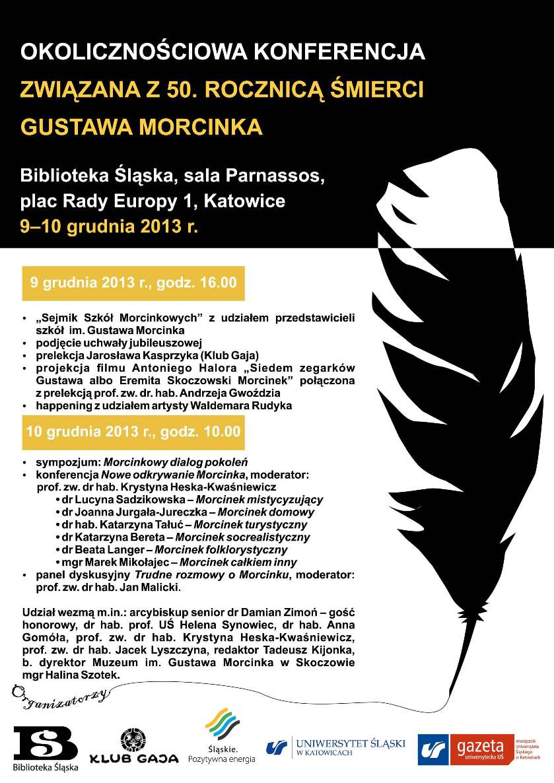 50. rocznica śmierci Gustawa Morcinka – konferencja (źródło: materiały prasowe)