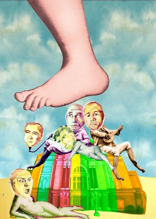 """Spektakl """"Latający Cyrk Monty Pythona"""", reż. Witold Mazurkiewicz, Teatr Polski w Bielsku-Białej, plakat (źródło: materiały prasowe organizatora)"""