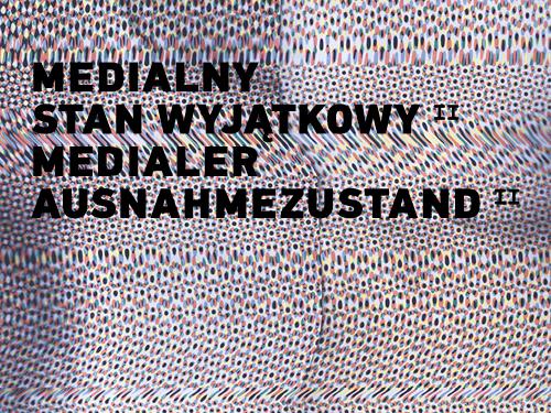 """Wystawa """"Medialny Stan Wyjątkowy"""", Muzeum Sztuki Współczesnej w Szczecinie, slide (źródło: materiały prasowe organizatora)"""
