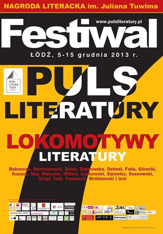 VII Puls Literatury – plakat (źródło: materiały prasowe)