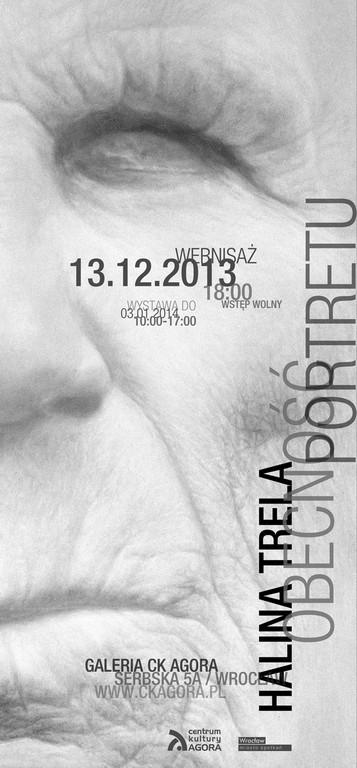 """Halina Trela, """"Obecność portretu"""", plakat (źródło: materiały prasowe)"""