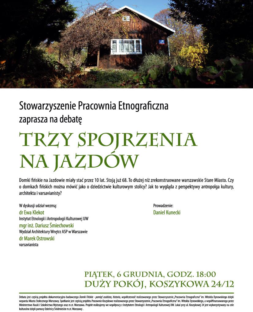 """""""Trzy spojrzenia na Jazdów"""", plakat (źródło: materiały prasowe)"""