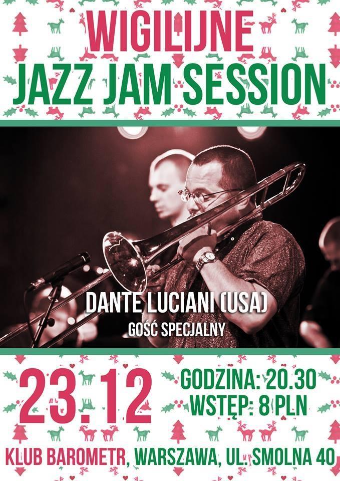 Wigilijne Jazz Jam Session, plakat (źródło: mat. prasowe)