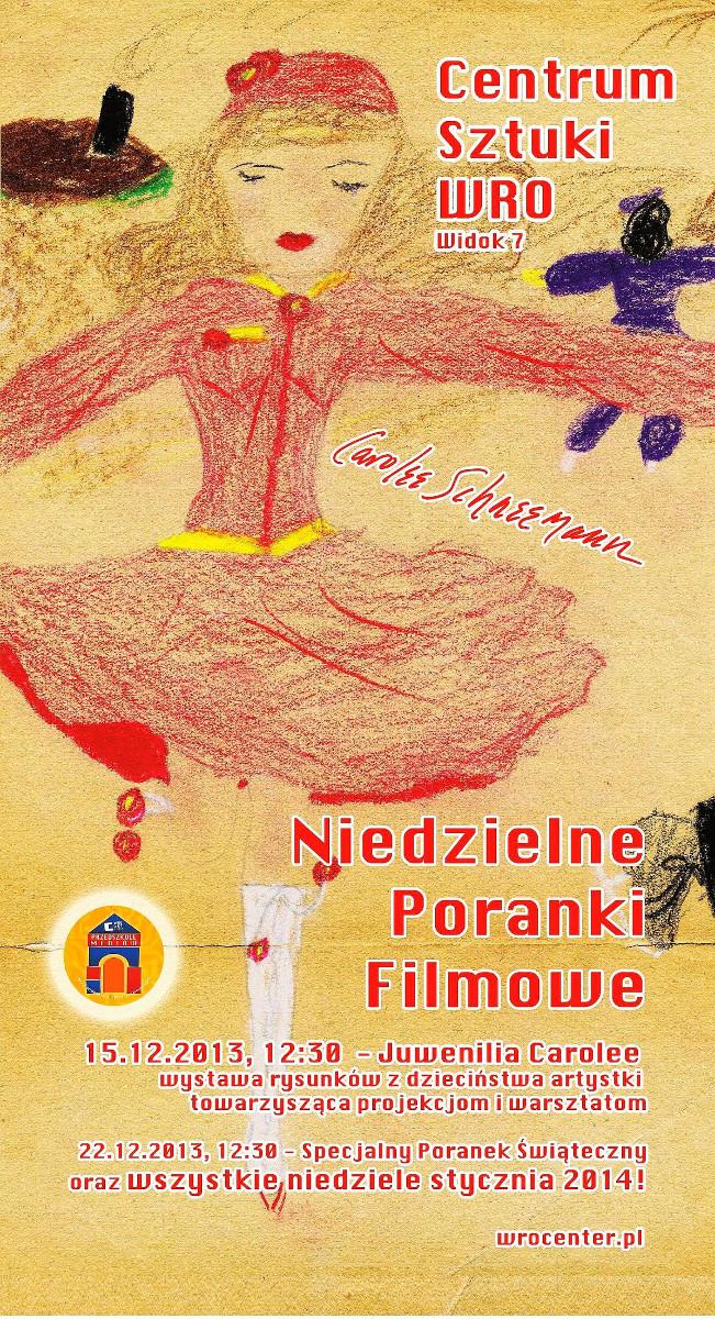 Niedzielny Poranek Filmowy, Centrum Sztuki WRO, plakat (źródło: materiał prasowe)