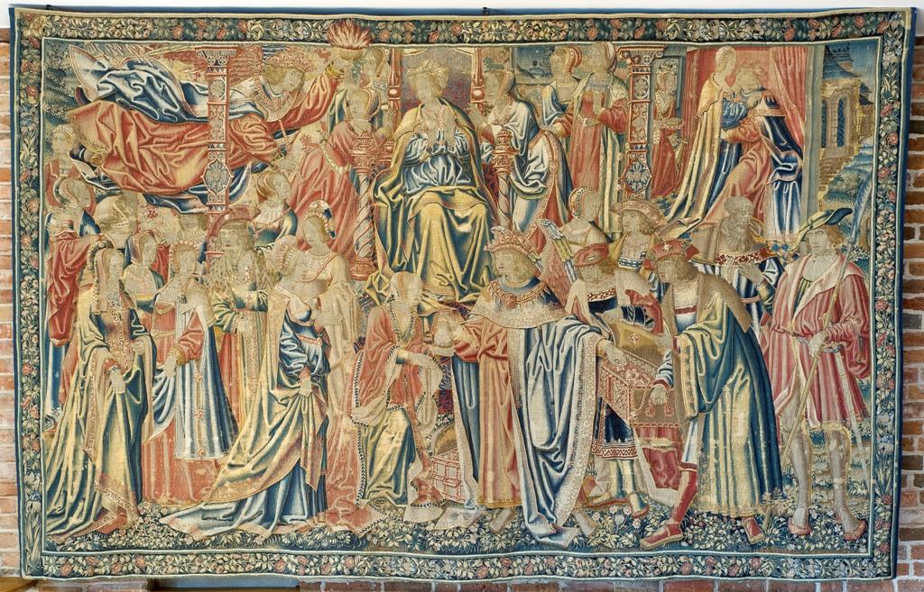 """""""Złoty deszcz"""", warsztat Gabriela van der Tombe (?), Bruksela, około 1515-1520, wełna, jedwab, 305 x 470 cm, ze zbiorów Kolekcji Książąt Czartoryskich w Krakowie (źródło: materiały prasowe organizatora)"""