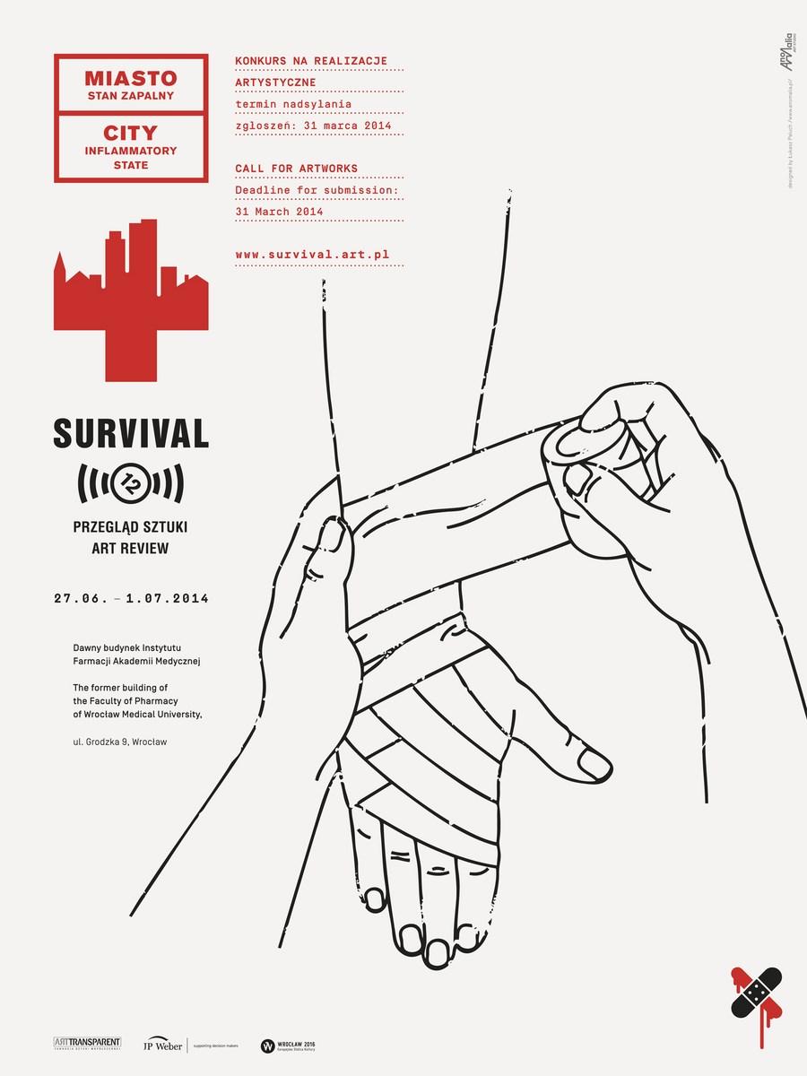 12. Przegląd Sztuki Survival we Wrocławiu, plakat (źródło: materiały prasowe organizatora)
