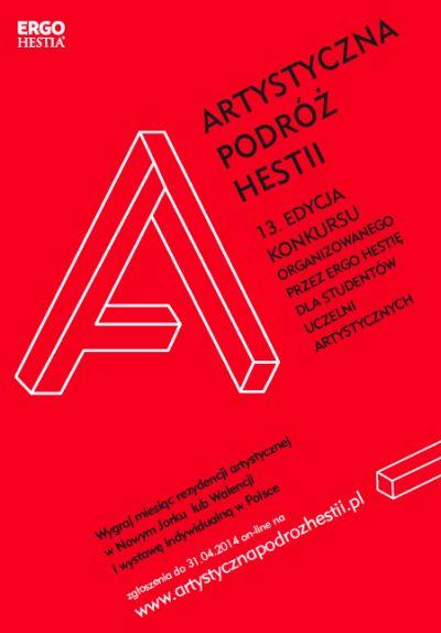 13 Artystyczna Podróż Hestii, plakat konkursu (źródło: materiały prasowe organizatora)