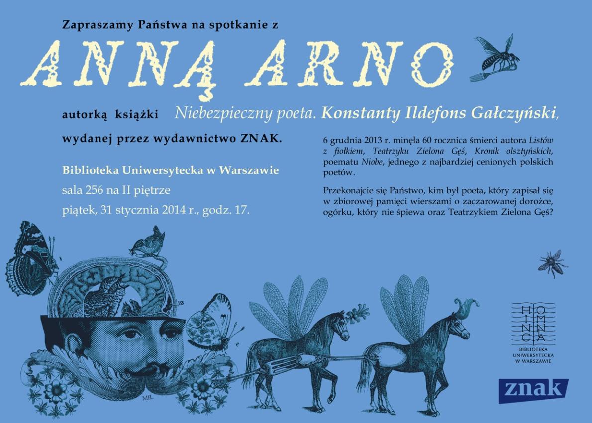 Spotkanie z Anną Arno – plakat (źródło: materiały prasowe)