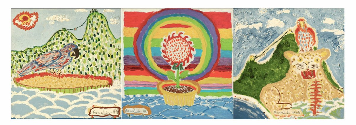 """Arnaldo Dias Baptista, """"Tropicalia I, II e III, 1999"""", malarstwo, fot. dzięki uprzejmości artysty (źródło: materiały prasowe organizatora)"""