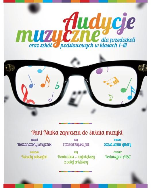 Audycje muzyczne dla szkół i przedszkoli, plakat (źródło: mat. prasowe)