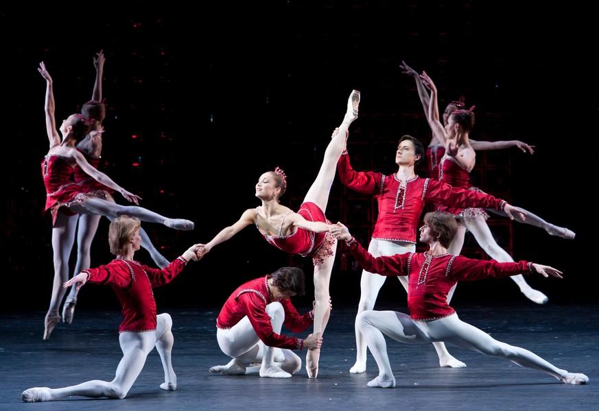 """Balet Bolshoi, """"Rubiny"""", fot. E. Fetisova (źródło: materiały prasowe dystrybutora)"""
