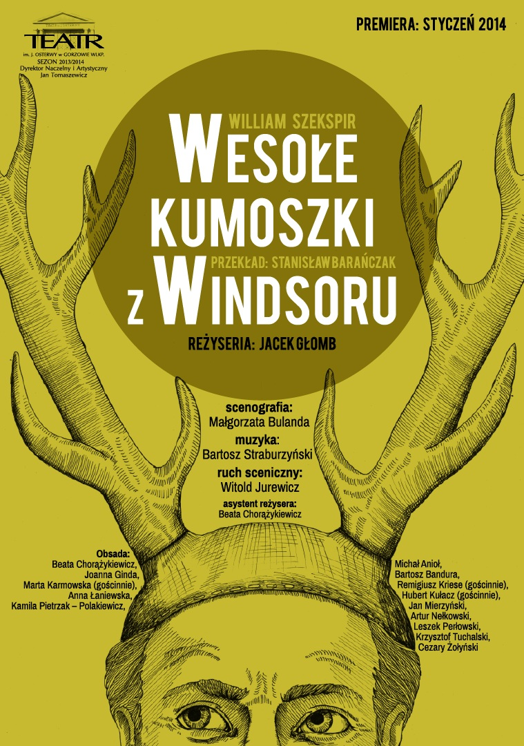"""""""Wesołe kumoszki z Windsoru"""", plakat (źródło: mat. prasowe)"""