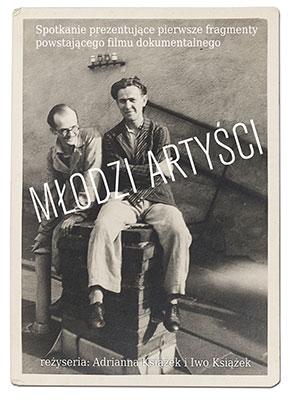 """Spotkanie """"Młodzi artyści"""", Galeria Starmach w Krakowie, plakat (źródło: materiały prasowe organizatora)"""