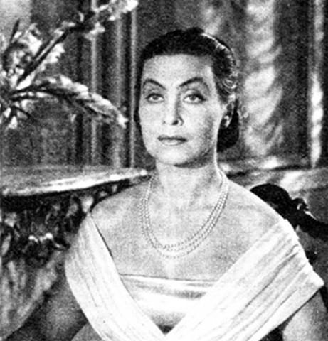 """Nina Andrycz w """"Warszawskiej premierze"""" w 1950 r. (źródło: Wikipedia, na podstawie licencji Creative Commons)"""