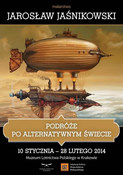 """""""Podróże po Alternatywnym Świecie"""", J. Jaśnikowski, plakat (źródło: materiały prasowe)"""