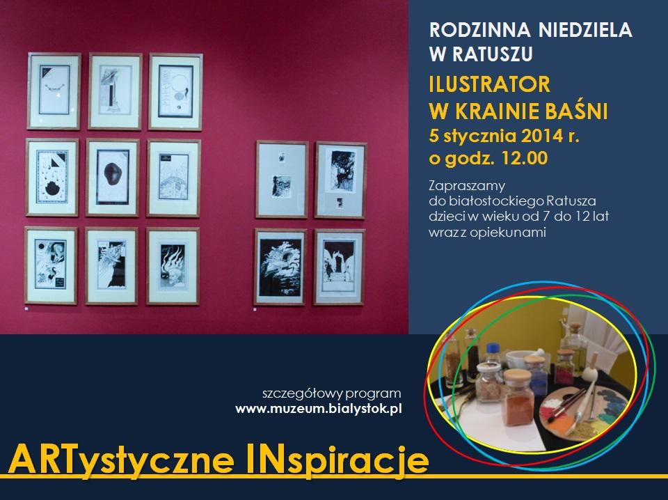 Rodzinna Niedziela w Ratuszu – Ilustrator w krainie baśni (źródło: materiały prasowe Muzeum)