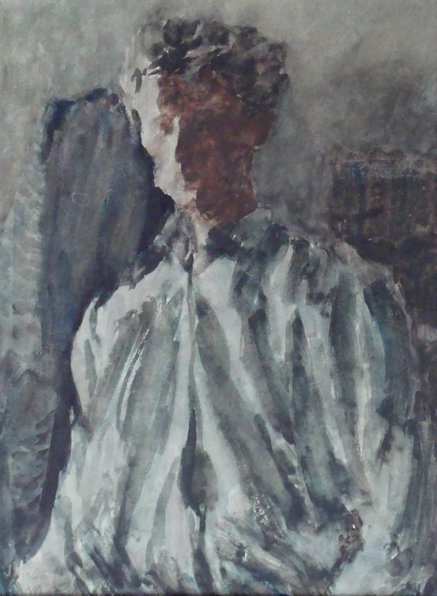 """Stanisław Mazuś, """"Autoportret"""", 1965 (źródło: materiały prasowe organizatora)"""