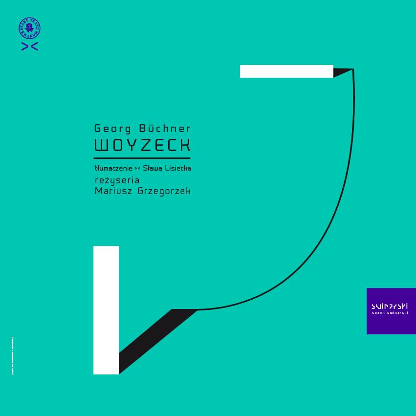 """""""Woyzeck"""", reż. M. Grzegorzek, plakat (źródło: materiały prasowe)"""
