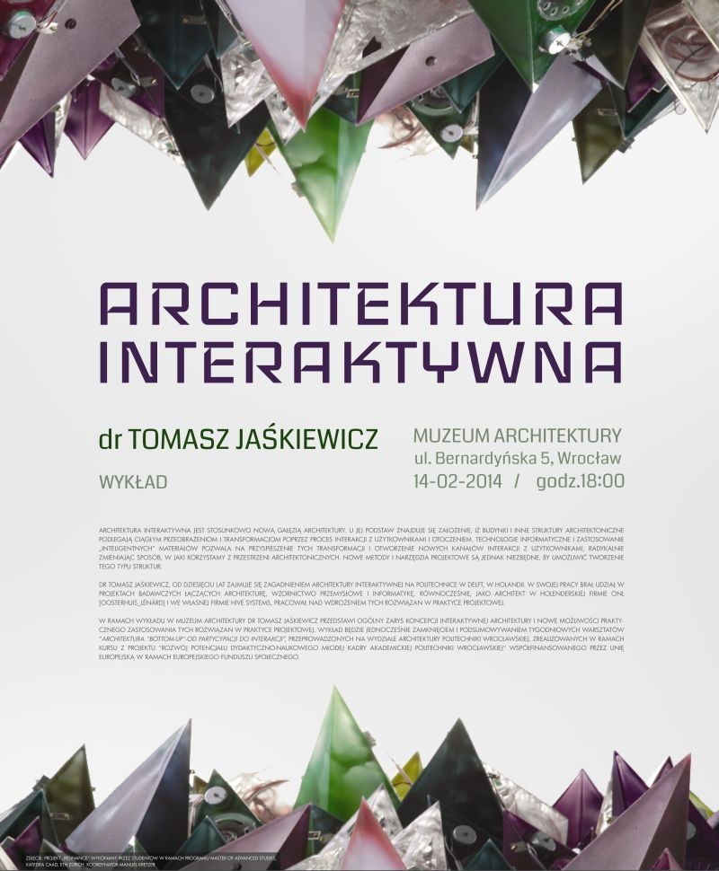 """Dr Tomasz Jaśkiewicz, """"Architektura interaktywna"""" (źródło: materiały prasowe organizatora)"""