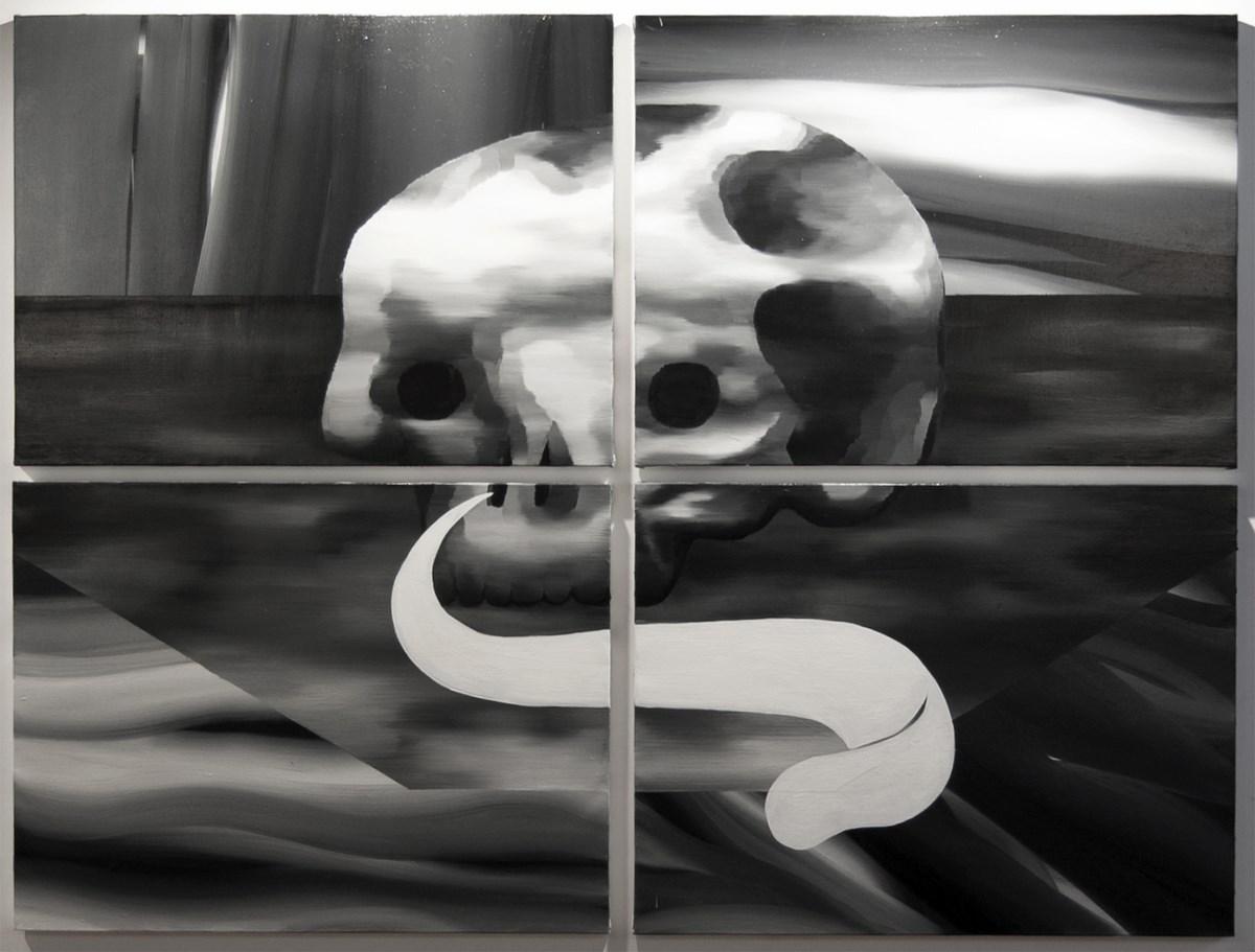 Beata Rojek, bez tytułu, olej na płótnie, 185x245 cm, 2013 (źródło: materiały prasowe organizatora)