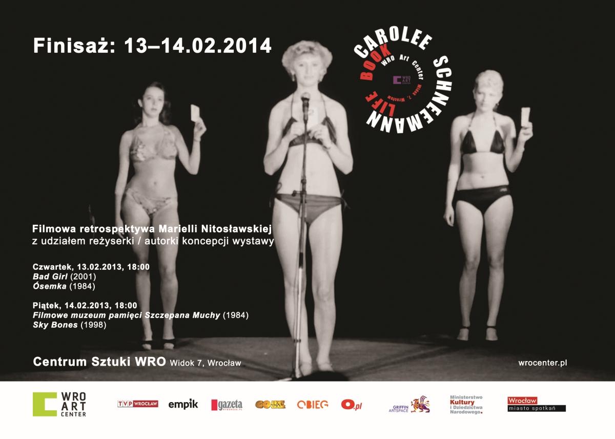 "Carolee Schneemann, ""Life Book"", finisaż, Centrum Sztuki WRO, plakat (źródło: materiały prasowe organizatora)"