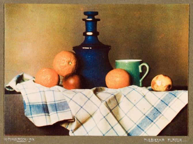 """Henryk Mikolasch, """"Niebieska flasza"""", 1914 (źródło: materiały prasowe organizatora)"""