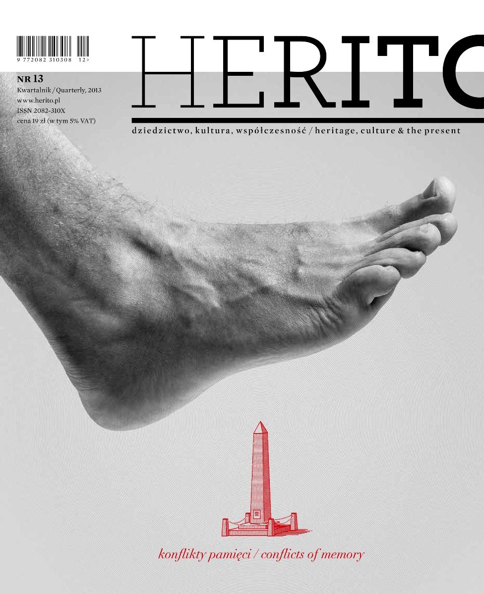 """""""Herito"""", nr 13: """"Konflikty pamięci"""" – okładka (źródło: materiały prasowe)"""