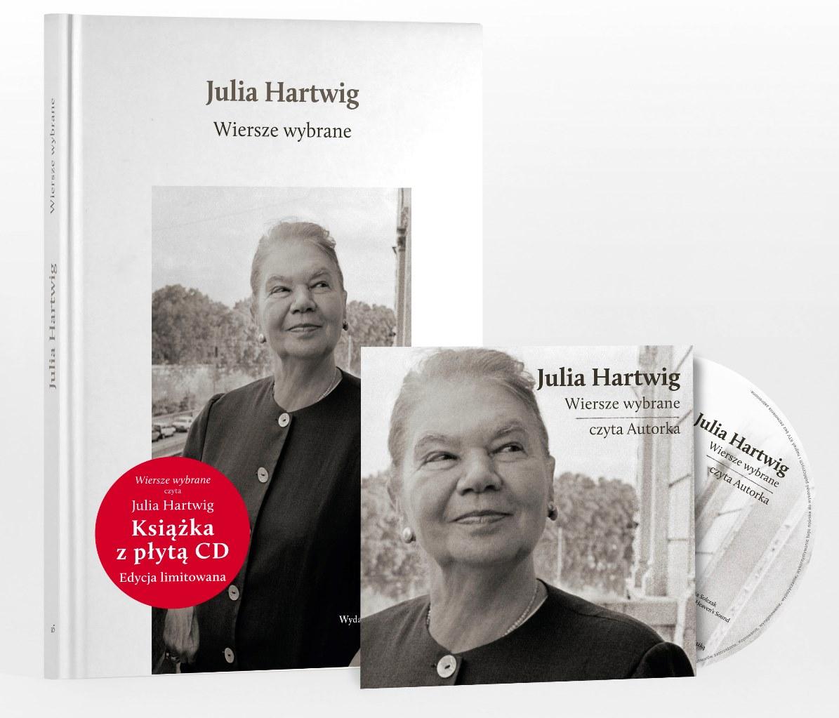 """Julia Hartwig """"Wiersze wybrane"""" z CD (źródło: materiały prasowe)"""