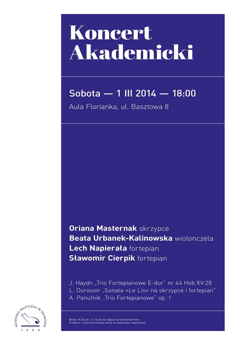 Koncert Akademicki we Floriance, plakat (źródło: mat. prasowe)