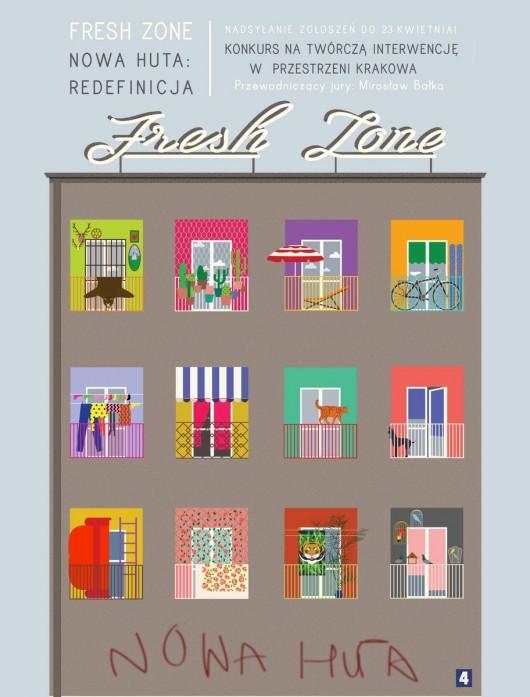 Konkurs Fresh Zone, plakat (źródło: materiały prasowe organizatora)