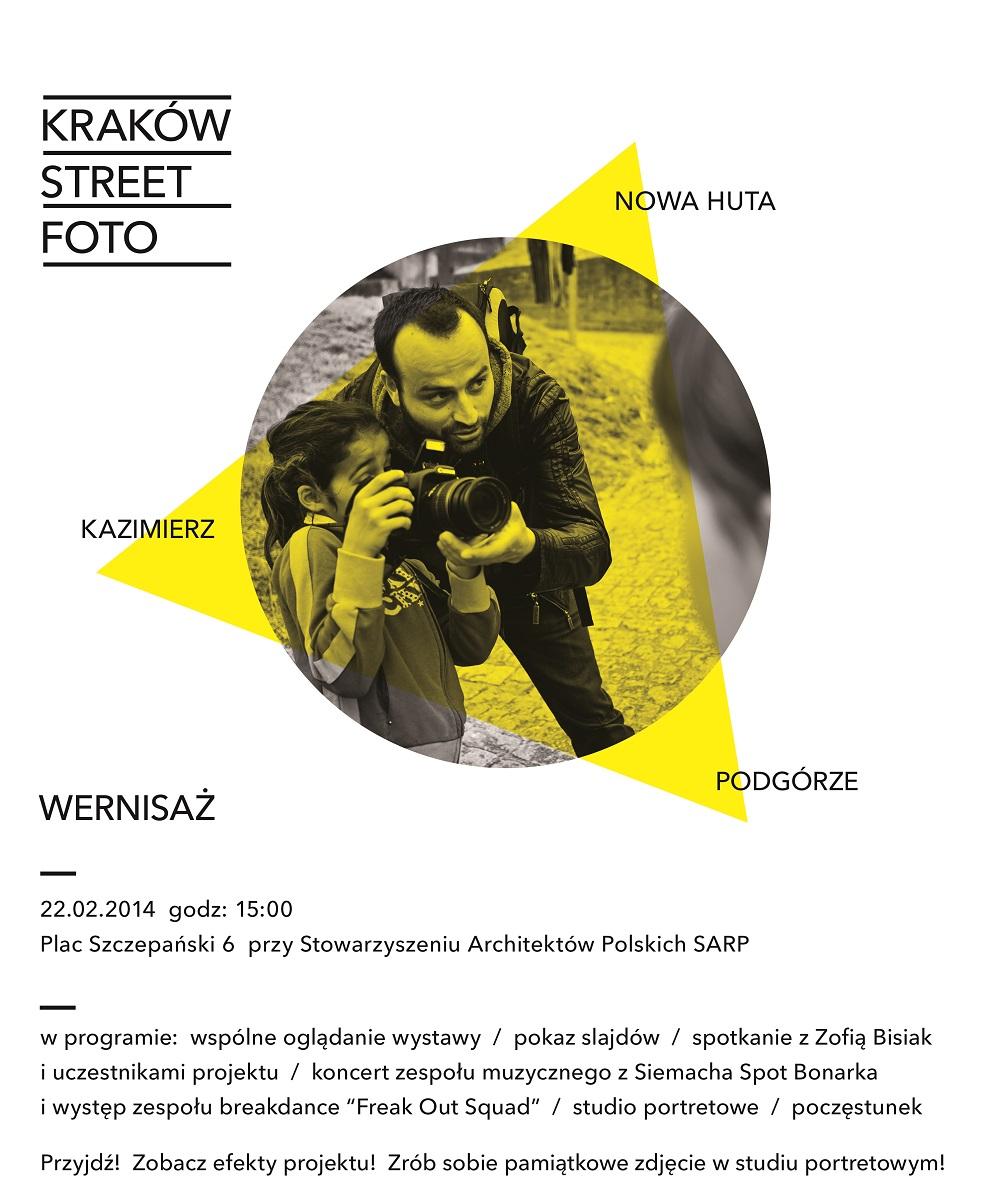 Kraków Street Foto, zaproszenie na wystawę (źródło: materiały prasowe organizatora)