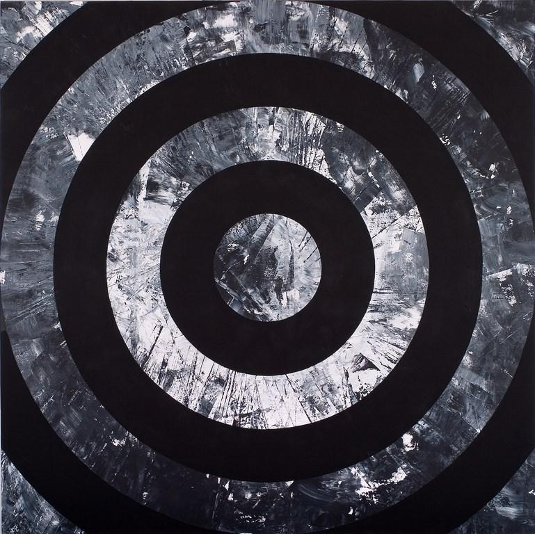 """Lech Twardowski, """"Puste-Pełne"""", akryl, olej, płótno, 200 x 200 (źródło: materiały prasowe organizatora)"""