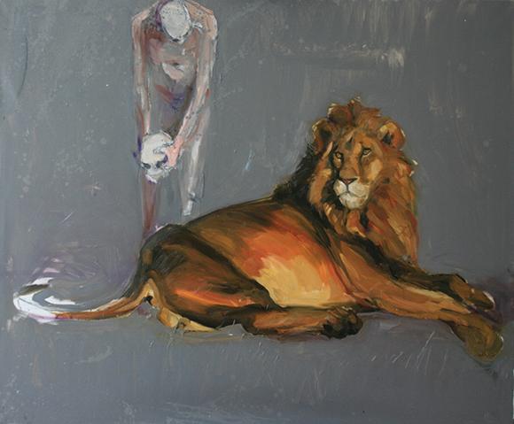 """Michał Zaborowski, """"Daniel w jaskini lwa"""", 2008 (źródło: materiały prasowe organizatora)"""