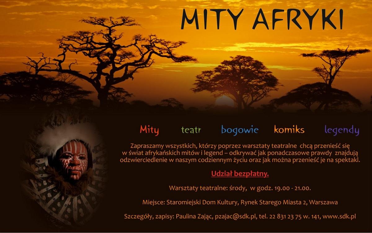 Mity Afryki, warsztaty teatralne (źródło: mat. prasowe)