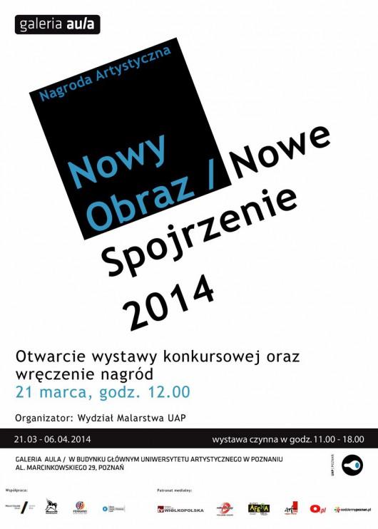 """Konkurs """"Nowy obraz / Nowe spojrzenie"""" 2014, plakat (źródło: materiały prasowe organizatora)"""