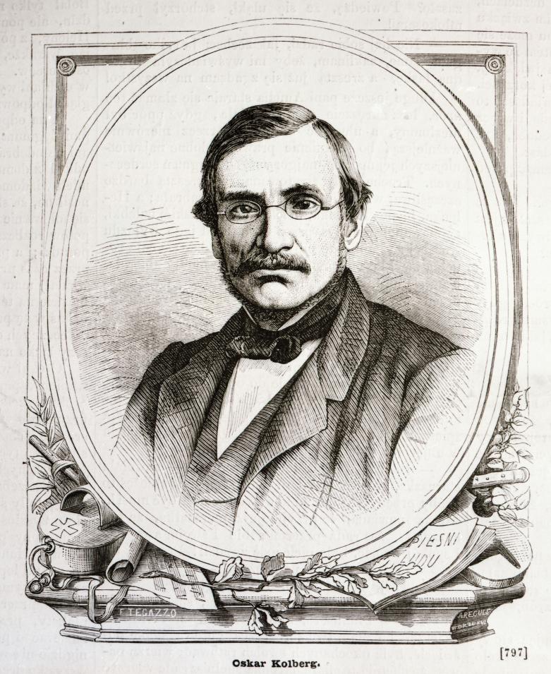 Oskar Kolberg, drzeworyt A. Regulskiego wg rys. F. Tegazzo (źródło: ze zbiorów Muzeum im. Oskara Kolberga w Przysusze, za zgodą IMIT)