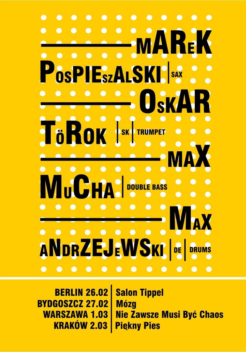 Trasa Pospieszalski/ TőRők/ Mucha/ Andrzejewski, plakat (źródło: mat. prasowe)