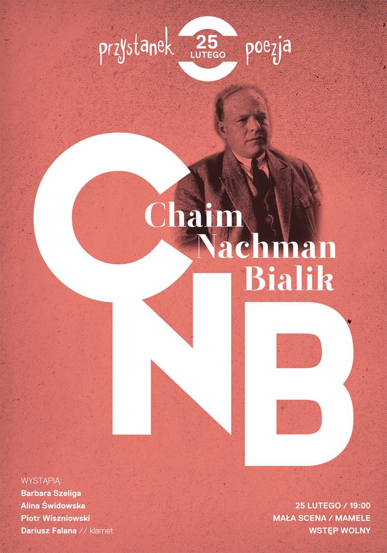"""""""Przystanek poezja: Chaim Nachman Bialik"""" – plakat (źródło: materiały prasowe)"""